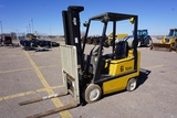 Yale 3,000lb LP Gas Forklift, SN# A809N017645, 15x5 Solid Steer Tires, 18x6 Solid Tires, 11,177 Hour