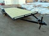 2021 New/Unused T3 Fabrication Custom Built 18' Flatbed Tag Trailer, 7,000lb GVW, 16' Wood Deck