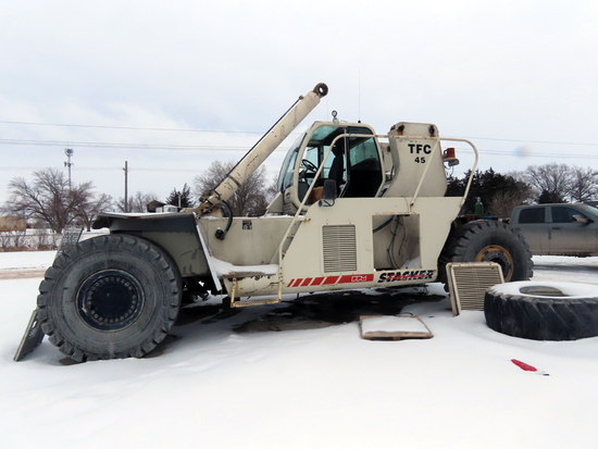 2004 Terex Model TFC45 High Reach Stacker Forklift, SN# VHXTFC451711780, Cummins Turbo Diesel Engine