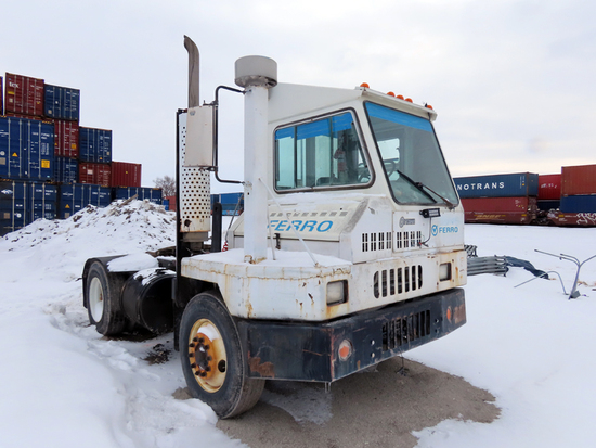 2001 Kalmar Ottowa Model YT30 Single Axle Yard Truck Tractor, VIN# 11VA812B21A000482, 36,000lb GVW,