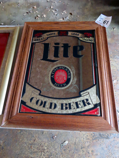 Lite Cold Beer Mirror, 23 1/2 x 29 1/2