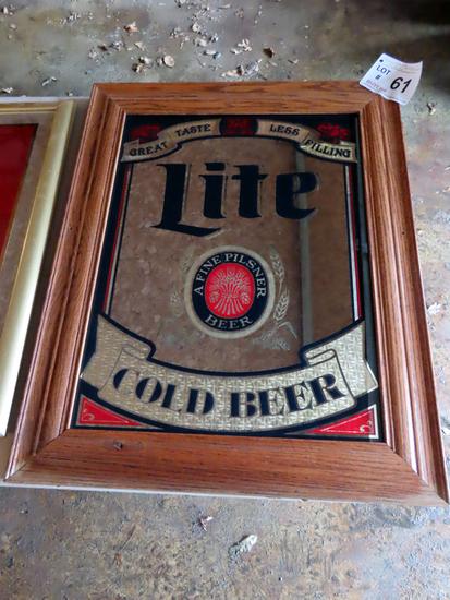 Lite Cold Beer Mirror, 23 1/2 x 29 1/2