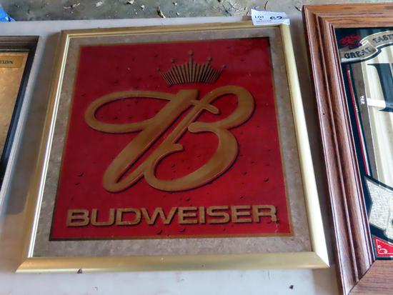 "Budweiser Mirror, 26"" x 26"""