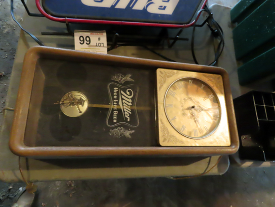 "Miller Clock (As-Is Not in Working Condition) (25"" x 11 1/2"")"