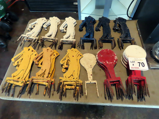 Steel Range Markers (Approx. 90) (Selling as a complete package)