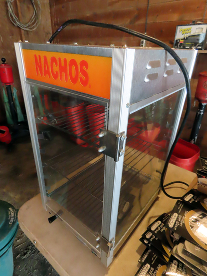 Stainless Steel & Glass Nacho Display Cabinet