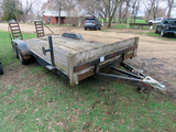 Shop Made 18' Tandem Axle Flatbed Tag Trailer