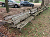 (12) Wooden Benches (All 12 1 $)