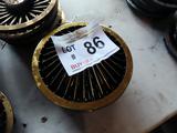 (1) Set of 4 Gold Wire Style EZ-Go Hub Caps