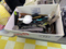 Large Box of Kitchen Utensils: Tongs, Grill Scrapers, Pot Holders, Forks, B