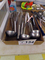 Box of Ladell & Stainless Steel Whisks..