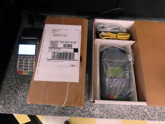 (2) Verifone VX570 Credit Card Machines (1 New in Box).