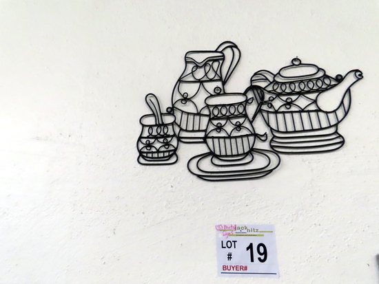 (3) Metal Wall Hangings (Coffee/Tea Related).