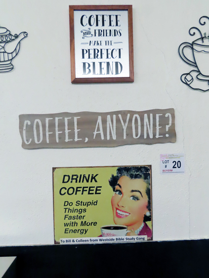 Coffee and Friends make the Perfect Blend Sign, Coffee, Anyone? Sign, Drink