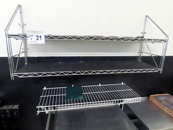 4' Metal 2-Shelf Wall Mount Unit & 3' Coated Wire.