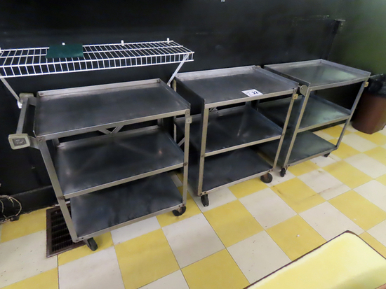 (3) Metal Rolling Carts (3x$).