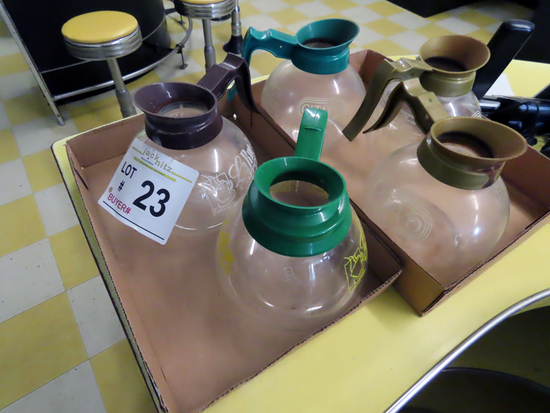 (5) Glass Coffee Pots.