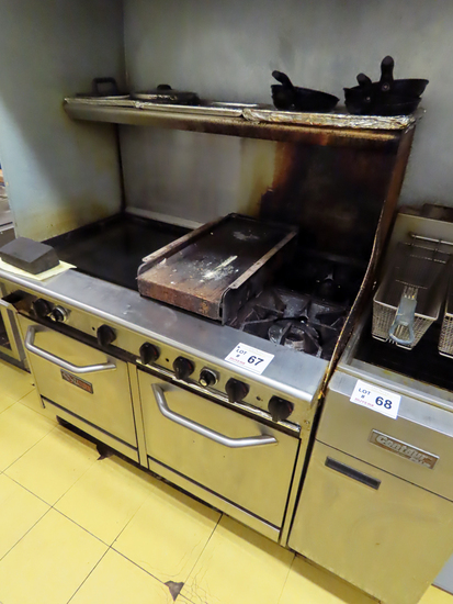 """Saturn Commercial Stainless Steel Grill/Oven/Flat Grill Combo Unit, 48"""" Wid"""