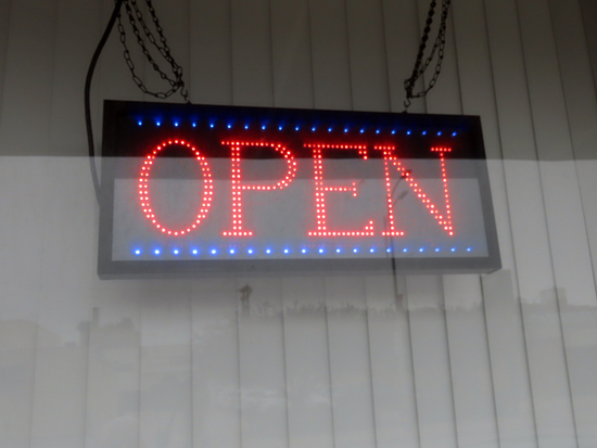 Millennium LED Open Sign, Multiple Settings.