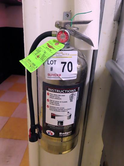 Badger 6-Liter Fire Extinguisher, Wet Chemical, Model WC-100.
