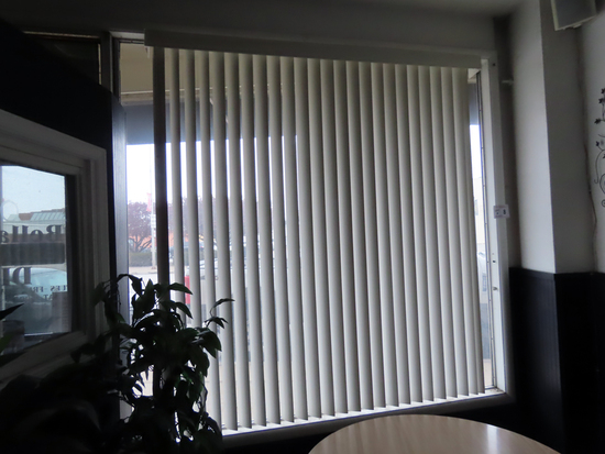 "65"" & 74"" Vertical Window Blinds."