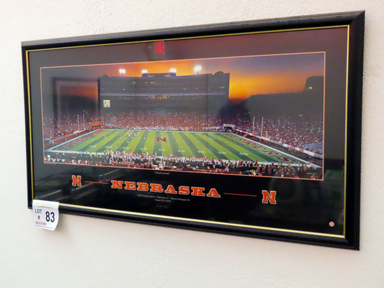 "Nebraska Print Titled ""A New Era Arises"" 2008 Season Opener."