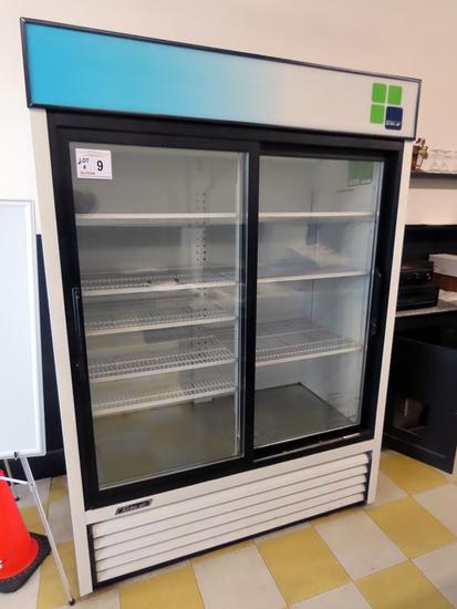 Turbo Air Model TGM-48R 48 ct. ft. Double Glass Sliding Door Refrigerator,