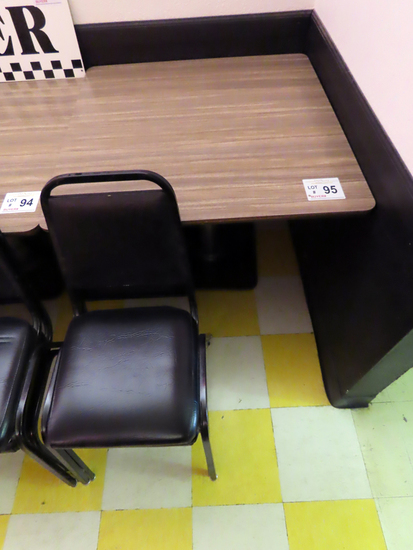 """36"""" Square Laminate Top Single Pedestal Table with (2) Padded Stackable Cha"""