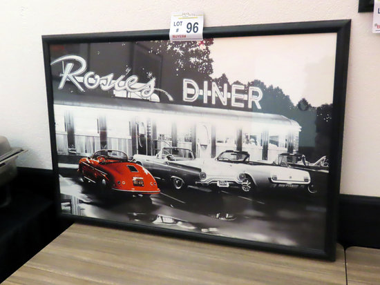 """Rosie's Diner Wall Print (38"""" Wide x 26"""" Tall)."""