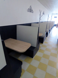 (8) Booth Systems, Wall Mounted Tables, (2) End Booths, (7) Middle Booths,