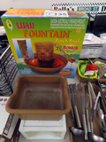 Fountain Punch Bowl & Plastic Storage Tote.