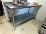 SSP Inc 5' Commercial Stainless Steel Table with Lower Shelf & Back Lip.
