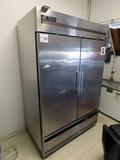 True Commercial Stainless Steel 2-Door Refrigerator, Model T-49, SN# 1-8519