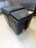 Cambro Commercial Heavy Duty Portable Ice Bin on Wheels, 125lb Capacity.