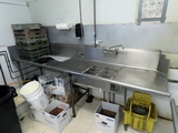 Commercial Stainless Steel Sink & Dry Rack with Faucet with HD Spray Wand,