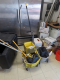 Continental Commercial Mop Bucket with Squeegee & Smaller Mop Bucket, (2) H