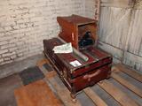 Antique Steamer Trunk (1 Leg Damaged).