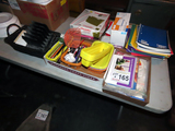 Large Lot of Office Supplies (6) Boxes: Notebooks, Files, Pens/Pencils, Han