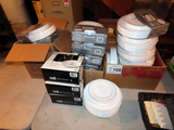 Large Selection of Plastic Decorative Plates: (17) Boxes of (40) Pieces, (3