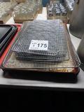 Full Size Baking Pans (4), (3) 1/2 Sheet Baking Pans, Full Size Cooling Rac