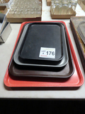 (9) Various Size Plastic Serving Trays.