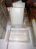 (5) Plastic Containers -Some with Lids.