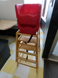 (2) Wooden High Chairs, (2) Plastic Booster Seats.