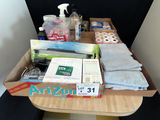Large Lot of Office Goods, Microfiber Towels, (9) Rolls of Receipt Paper, 1