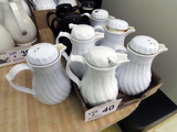 (9) Smaller Insulated Coffee Pots with Lids.