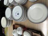 (40) Heavy Stoneware Dinner Plates.