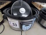 Electric Crock Pot with Digital Temp Gauge.