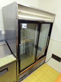 True Commercial Stainless Steel Reach-In Cooler, (2) Sliding Glass Doors, O