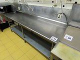 8' Commercial Stainless Steel Work Table with Lower Shelf.