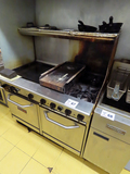 Saturn Commercial Stainless Steel Grill/Oven/Flat Grill Combo Unit, 48